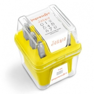 ImpressArt Jeanie number stamps set 4mm Yellow