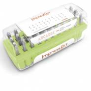 ImpressArt Arcadia letter stamps set Lowercase 3mm Green