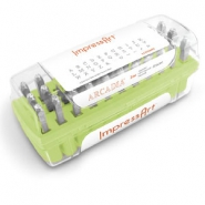 ImpressArt Arcadia letter stamps set Uppercase 3mm Green