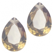 Drop shaped charms 10x14mm Light colorado topaz opal