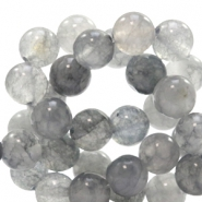 8 mm natural stone beads round Jade Mixed Grey Opal