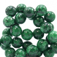 8 mm natural stone beads round Jade Classic Green