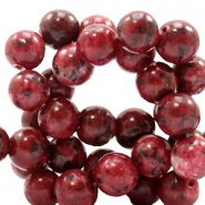 8 mm natural stone beads round Jade Natural Red
