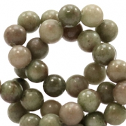 6 mm natural stone beads round Jade Multicolour Olive Green