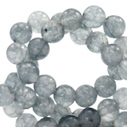 4 mm natural stone beads round Jade Mixed Grey Opal