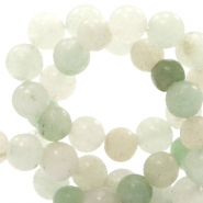 4 mm natural stone beads round Agate Multicolour Light Green
