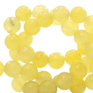 4 mm natural stone beads round Jade Gold Finch Yellow