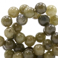 4 mm natural stone beads round Jade Olive Green
