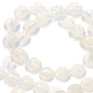 4 mm natural stone beads round Jade White Opal