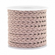 Trendy flat cord braided silk style 5mm Rose Taupe