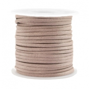 Trendy flat cord silk style 2mm Rose Taupe
