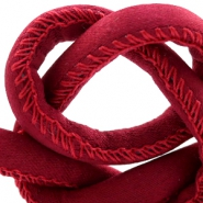 Trendy stitched cord silk style 4x3mm Red