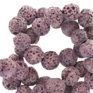 8 mm natural stone beads matt Lava Lavender Purple