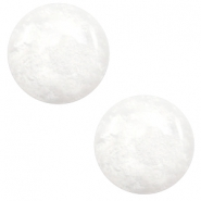 12 mm classic Polaris Elements cabochon Mosso shiny White
