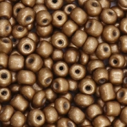 Glass seed beads 6/0 (4mm) Antique Gold