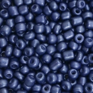 Glass seed beads 6/0 (4mm) Denim Blue