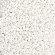Glass seed beads 12/0 (2mm) Sparkling White
