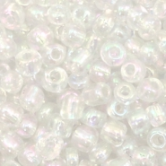 Glass seed beads 6/0 (4mm) Crystal AB
