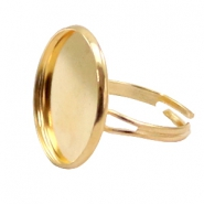 Rings metal for cabochon 20mm Gold