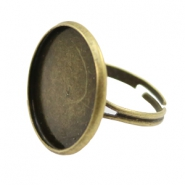 Rings metal for cabochon 20mm Bronze