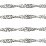Stainless Steel findings belcher chains 3mm Silver