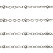 Stainless Steel findings belcher chains 2mm Silver