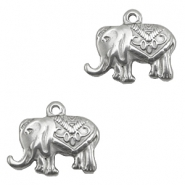 Charms stainless steel elephant Silver