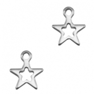 Charms stainless steel star Silver