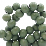 Wooden beads round 12 mm Island Palm Green
