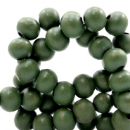 Wooden beads round 6 mm Green