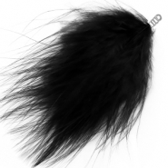 Feathers plush Black