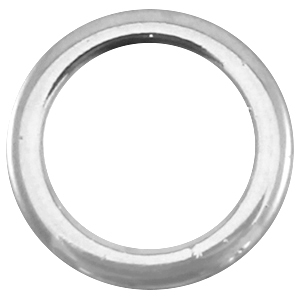 Closed DQ metal ring 18mm Antique  Silver (nickel free)