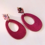 Trendy earrings of new velvet pendants