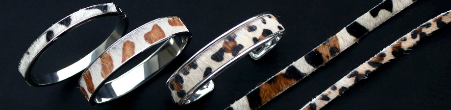 New nature leather in trend colours and animal prints