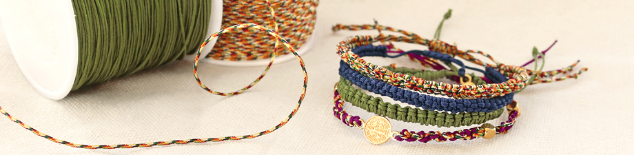 New in: macramé bead cord in must-have colours