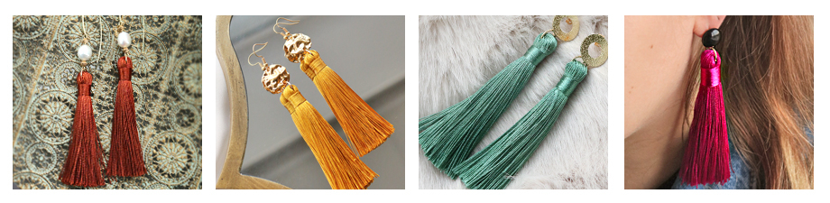 New arrivals! Large tassels in new trend colours
