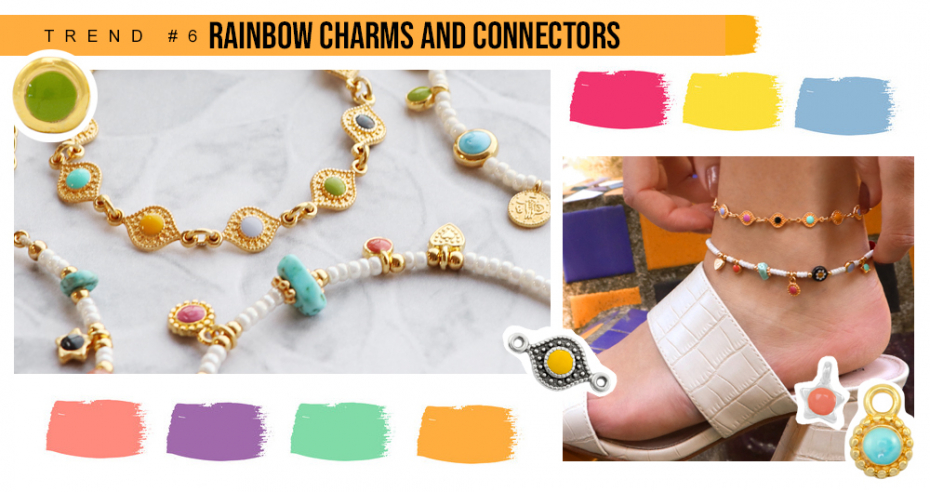 RAINBOW CHARMS AND CONNECTORS